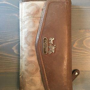 Coach signature wallet